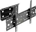 Lorenzo Porsche Triple Cantilever Arm Full Motion Carbon Black Easy Installation Ultra Low Profile Flat Panel LCD TV Wall Mount Bracket with Touch & Tilt System up to 60""
