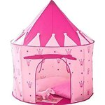 Puregadgets©-Exclusive 2015 Pink Crown Fairy Princess Tale Castle Pop Up Children's Tent with Windows and Roll Up Door Pink Girls Indoor or Outdoor Use Girls Pink Toy Play Tent / Playhouse / Den