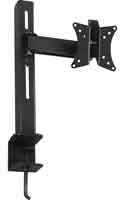 Single Arm Lorenzo Porsche Black LCD Desk Mounting System for LCD Monitor Screen & TV up to 37""