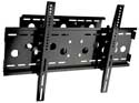Lorenzo Porsche Quad Cantilever Arm Full Motion Carbon Black Easy Installation Ultra Low Profile Flat Panel LCD TV Wall Mount Bracket with Touch & Tilt System up to 55""