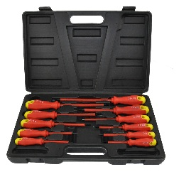 11pc Insulated Soft Grip Screwdriver Set Flat Phillips Case DIY Professional