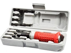 14PC Impact Screwdriver & Socket Driver Set & Case Mechanics Stuck/Frozen Screw