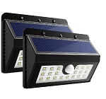 2 X 20 LED Solar Lights Motion Sensor Security Light Wireless Weatherproof Lamp