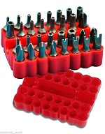 33PC-SECURITY-BIT-SET-SCREWDRIVER-TOOL-HOLDER-TORX-STAR-HEX-60MM-SPANNER-SCREWS