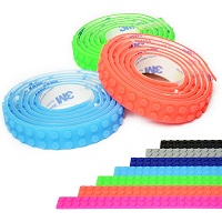 1m Lego Compatible 3M Tape Strip Block Toy Bendable Flexible Corners UK STOCK