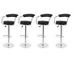 Add a review for: 4x Black PU Leather Breakfast Stool Bar Chair