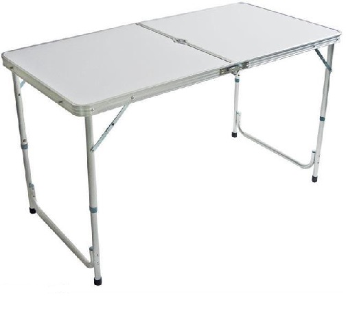 Folding Aluminium Lightweight Trestle Camping Table (4 foot long)