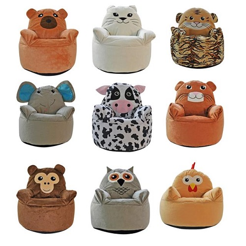 Kids Animal Design Armchair Beanbag Indoor Bedroom Pillow Cushion Chair Seat NEW