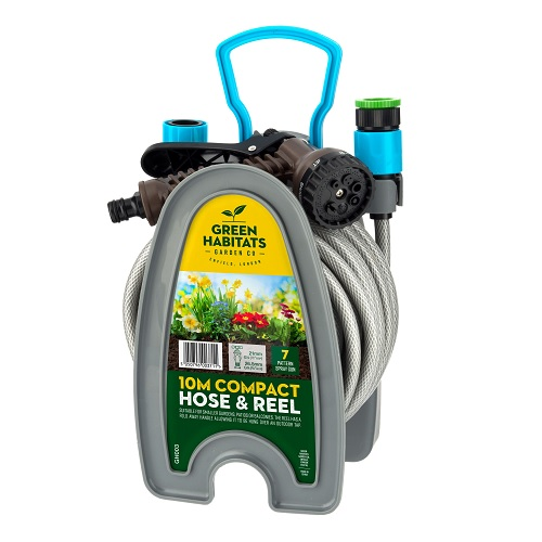 Green Habitats 10M Hosepipe with Attachments AND Wall Mount