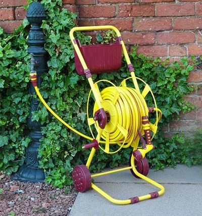 60M - Empty Hose Reel with Stand