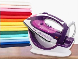 2400 watt cordless steam iron with stand plate