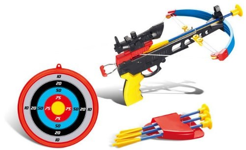 Puregadgets© Children's Crossbow Archery Set Cross Bow Arrow Target with Targeting Scope Boys Outdoor Garden