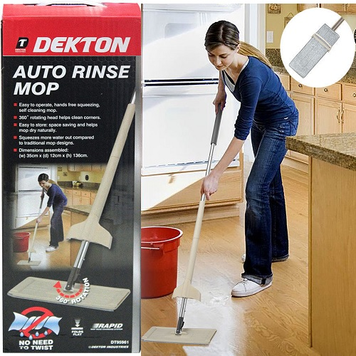 Dekton Self Cleaning Floor Mop Auto Rinse Laminate Wood Tile Steam Free 360°