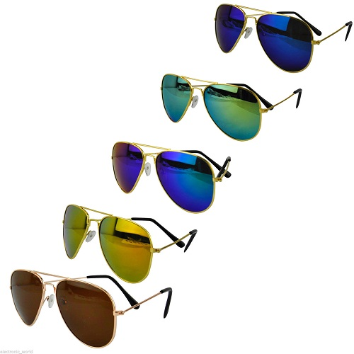 Aviator Sunglasses Fashion 80s Retro Style Designer Shades UV400 Lens Unisex New