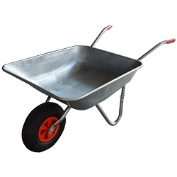Wheelbarrow Garden Wheel Barrow Galvanised Pneumatic Tyre 100L Professional DIY