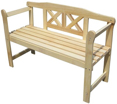 Wooden Outdoor 2 Seat Seater Garden Bench Hardwood Furniture