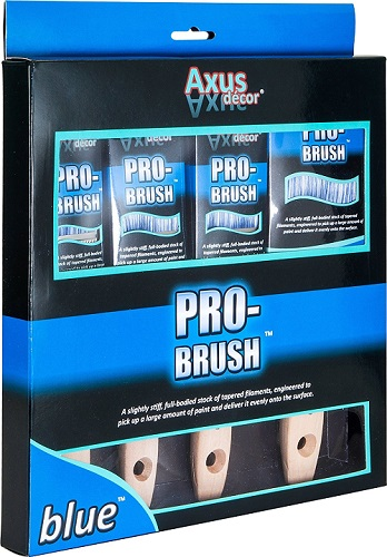 Axus Décor Pro-Brush Brush Set - Blue (4 Pieces)