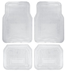 PVC Clear Vinyl Car Mats Back and Front - 4 Mat Set - Waterproof Rain or Shine !