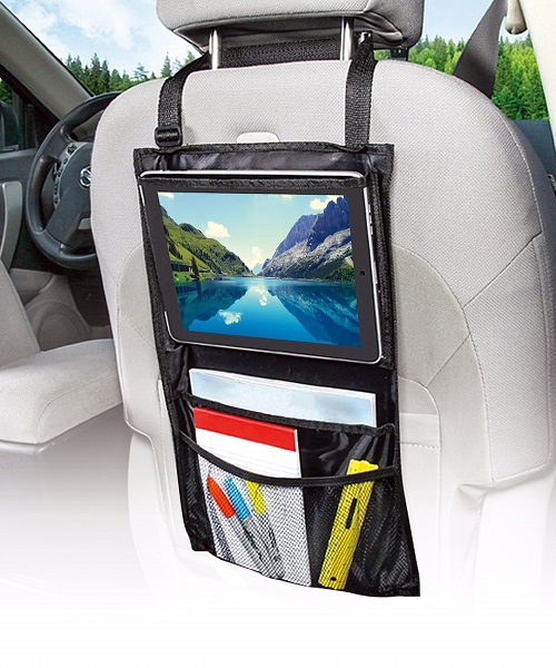 Car Seat Organiser Head Rest Mount for iPad Tablet TV Kids Holiday Protector