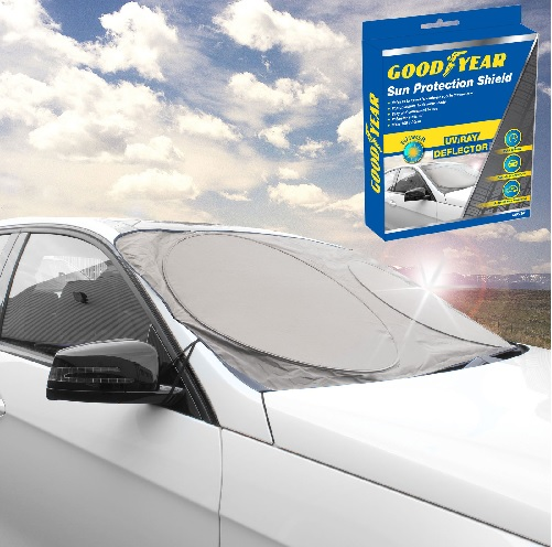 Goodyear Windscreen Sun Shield UV Deflector Pop-Up Cover Dust Protector Protect