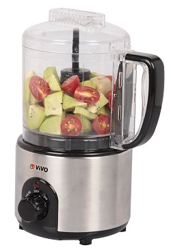 ViVo Mini Multi Function Food Processor Chopper Dual Blade Stainless Steel Body