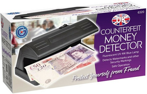 UV Ultraviolet Counterfeit Money Detector Detects Watermarks Security Markings