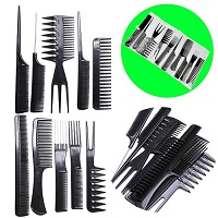 Add a review for: 10 piece Hair Styling Comb Set Professional Black Hairdressing Brush Barbers