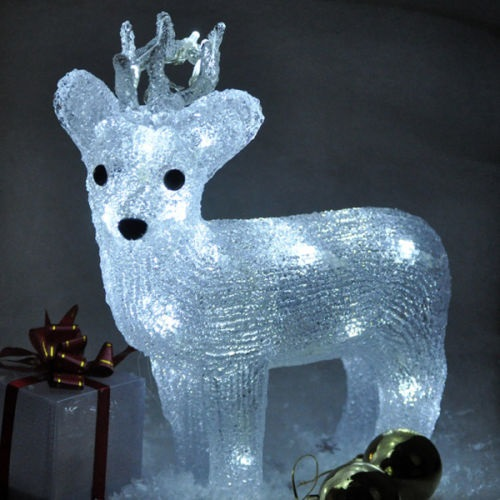 Reindeer Crystal Effect Standing Character Christmas Light