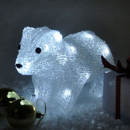Polar bear Crystal Effect Standing Character Christmas Light