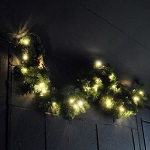 1.2m Pre Lit Garland Christmas Decoration Door Wall Hanging Warm White LED Xmas