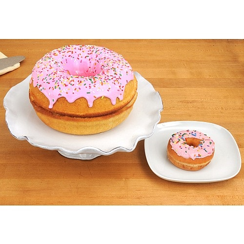 Big Jumbo Giant Donut Doughnut Cake Maker Silicone Mould Xmas Present Fun