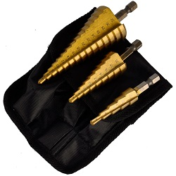 3 Pcs Set Large Titanium Hole Cutters