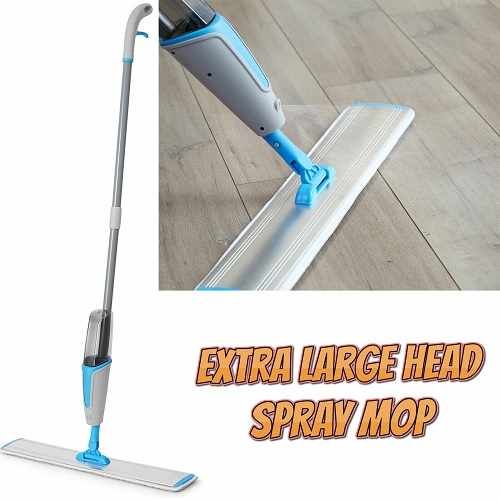 Aluminium Large Head Spray Mop For Home / Professional Use Wood Tiles Hard Floor
