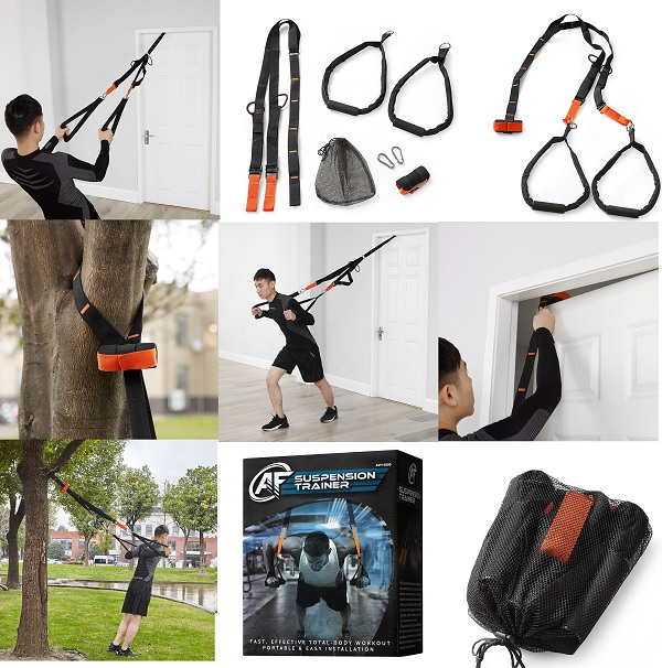 Suspension Trainer Training Straps Fitness Kit Strength Body Exercise Home Gym