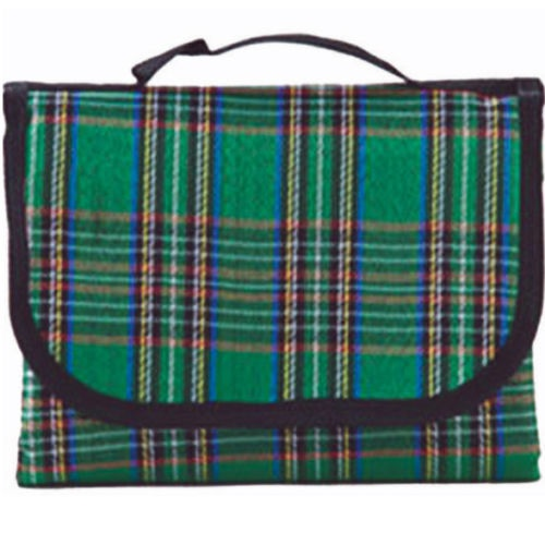Green Extra Large Tartan Picnic Blanket with Waterproof Backing