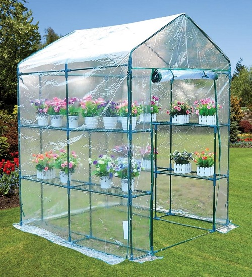 Green House with 8 shelves
