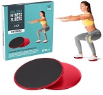 2x Dual Sided Fitness Gliding Discs Core Sliders Home Gym Abs Leg Workouts