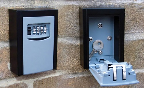 vivo high security steel wall mount key box with combination lock