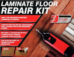 19pc Laminate Floor / Worktop Repair Kit Wax System Sturdy Case Chips Scratches