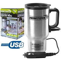 12v Stainless Steel Hot Mug Car Van Caravan Thermal Heat Travel Cup Kettle USB