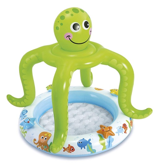 Intex Smiling Octopus Inflatable Garden Sun Shade Paddling Swimming Pool Kids Baby