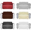 1 Seater Quilted Sofa Chair Settee Armchair Pet Protector Slip Cover Furniture Throw Mess