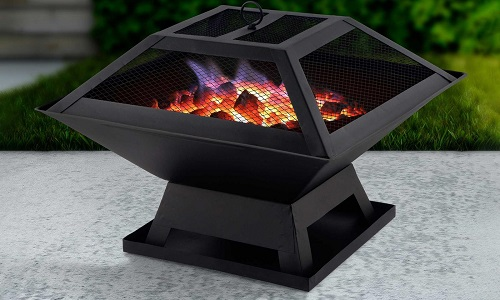 Fire Pit BBQ Grill Outdoor Garden Firepit Brazier Stove Patio Heater