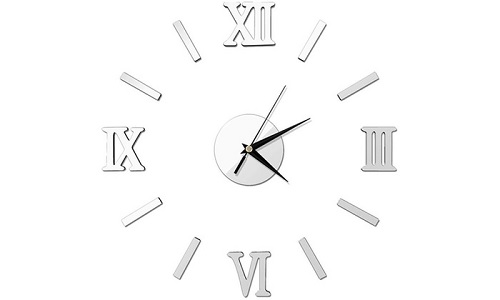 3D Modern Wall Clocks with Roman Numerals