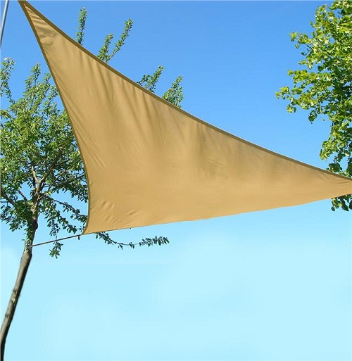 MEDIUM- Triangle Sail Sun Shade Garden Patio Party Sunscreen Awning Canopy Cords Sunburn