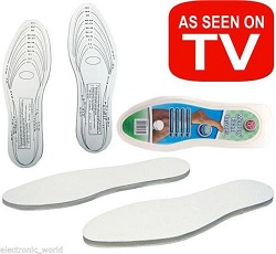 2 set  X MEMORY FOAM ORTHOPEDIC SHOE FOOT INSOLES UNISEX