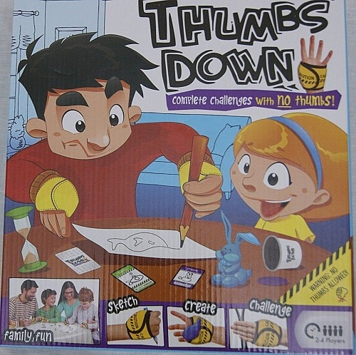 THUMBS DOWN FAMILY CHALLENGE GAME BUT YOU CAN'T GET A GRIP! AGE 5+ BRAND NEW!