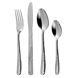 32 Piece Stainless Steel Cutlery Set Knives Forks Spoons Teaspoons Family Guests