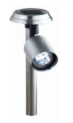 2x Solar Powered LED Garden Spot light