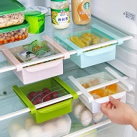 1 x Plastic Kitchen Refrigerator Fridge Storage Rack Freezer Shelf Holder Kitchen Space Saver